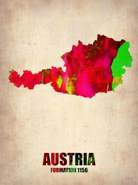 Austria Watercolor Poster by NaxArt