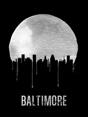 Baltimore Skyline Black by NaxArt