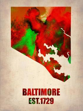 Baltimore Watercolor Map by NaxArt