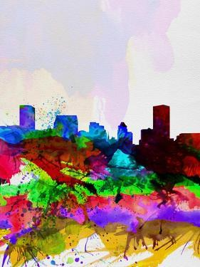 Baltimore Watercolor Skyline by NaxArt