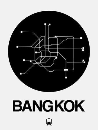 Bangkok Black Subway Map by NaxArt