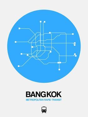 Bangkok Blue Subway Map by NaxArt