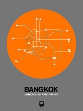 Bangkok Orange Subway Map by NaxArt
