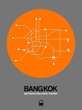 Bangkok Orange Subway Map by NaxArt