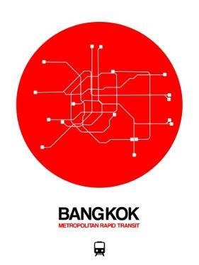 Bangkok Red Subway Map by NaxArt