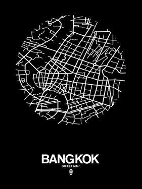 Bangkok Street Map Black by NaxArt