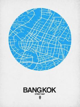 Bangkok Street Map Blue by NaxArt