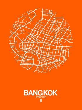Bangkok Street Map Orange by NaxArt