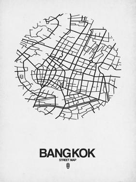 Bangkok Street Map White by NaxArt
