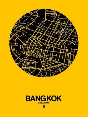 Bangkok Street Map Yellow by NaxArt