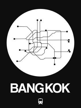 Bangkok White Subway Map by NaxArt