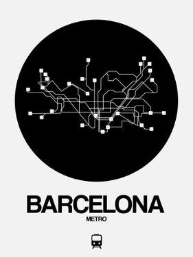Barcelona Black Subway Map by NaxArt