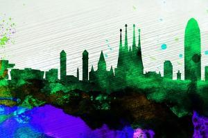 Barcelona City Skyline by NaxArt