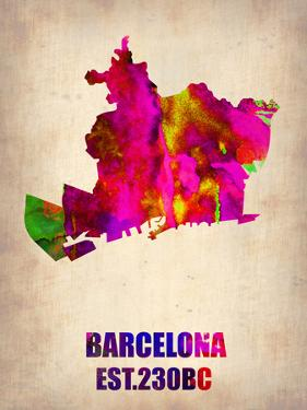 Barcelona Watercolor Map by NaxArt