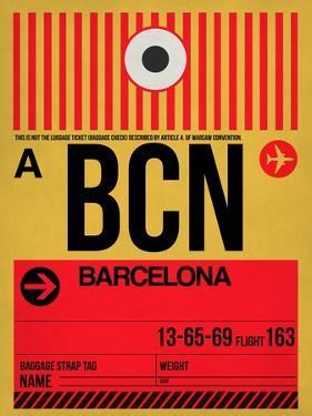 BCN Barcelona Luggage Tag 1 by NaxArt