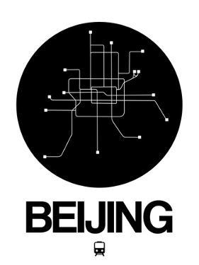 Beijing Black Subway Map by NaxArt