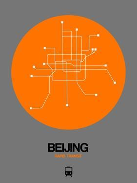 Beijing Orange Subway Map by NaxArt