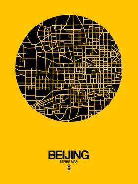 Beijing Street Map Yellow by NaxArt