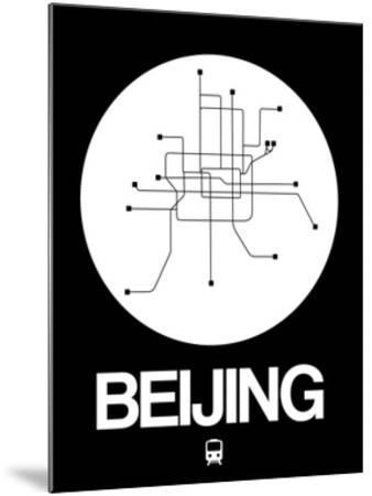 Beijing White Subway Map by NaxArt