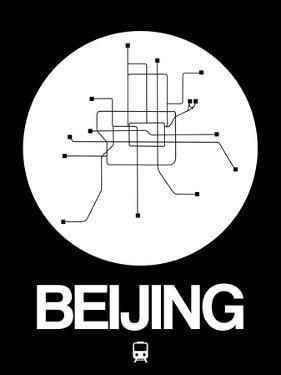 Beijing White Subway Map by NaxArt