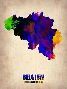 Belgium Watercolor Map by NaxArt
