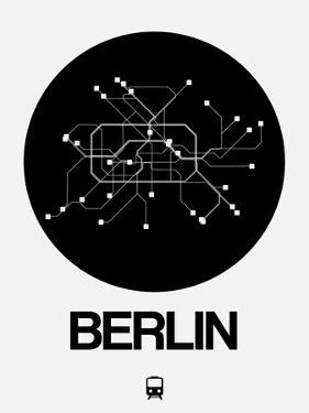 Berlin Black Subway Map by NaxArt