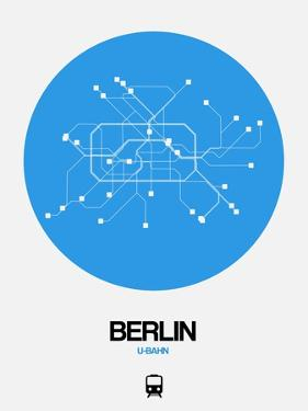 Berlin Blue Subway Map by NaxArt