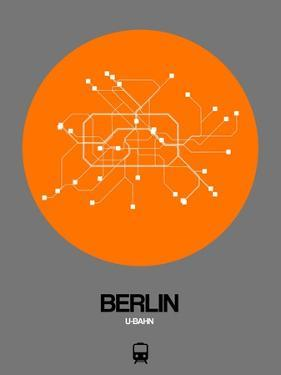 Berlin Orange Subway Map by NaxArt