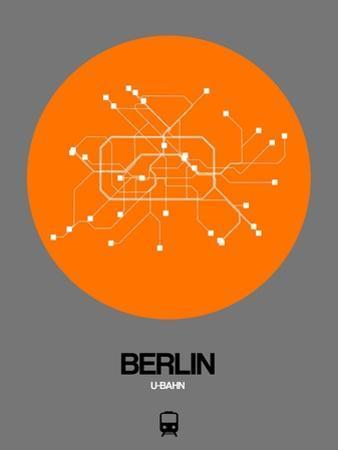Berlin Orange Subway Map by NaxArt