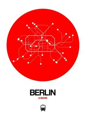 Berlin Red Subway Map by NaxArt