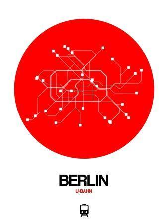 Berlin Red Subway Map