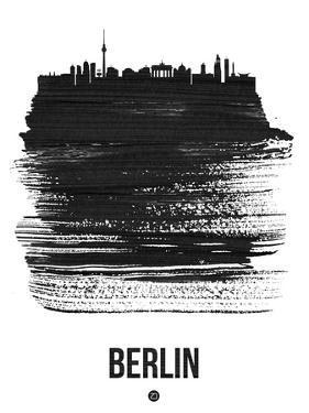 Berlin Skyline Brush Stroke - Black by NaxArt
