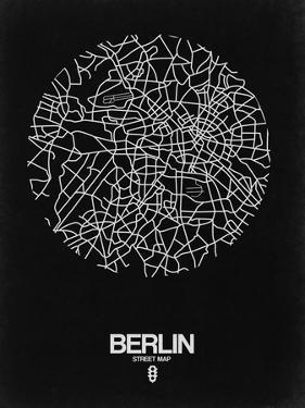 Berlin Street Map Black by NaxArt