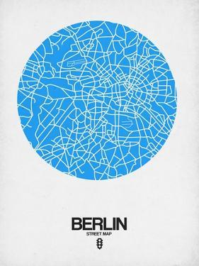 Berlin Street Map Blue by NaxArt