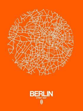 Berlin Street Map Orange by NaxArt
