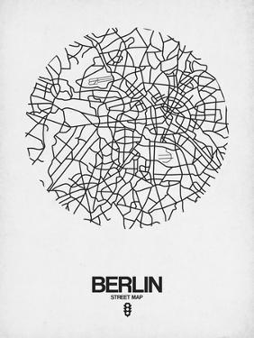 Berlin Street Map White by NaxArt