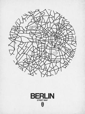 Berlin Street Map White by NaxArt