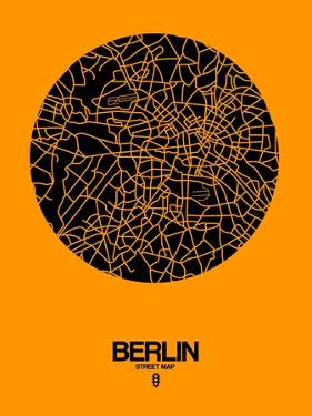 Berlin Street Map Yellow by NaxArt