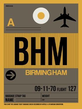 BHM Birmingham Luggage Tag I by NaxArt