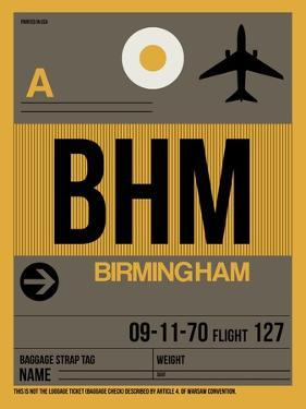 BHM Birmingham Luggage Tag I by NaxArt