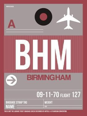 BHM Birmingham Luggage Tag II by NaxArt