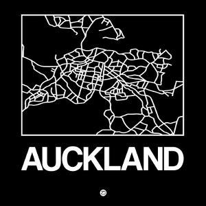Black Map of Auckland by NaxArt