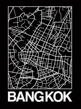 Black Map of Bangkok by NaxArt