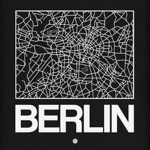Black Map of Berlin by NaxArt