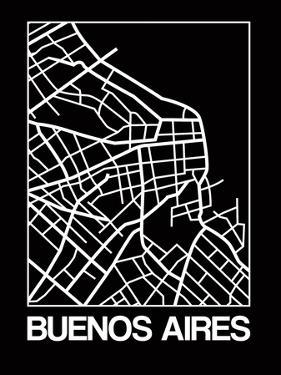 Black Map of Buenos Aires by NaxArt