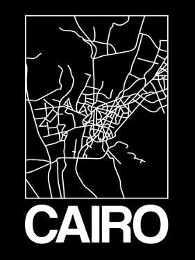 Black Map of Cairo by NaxArt