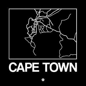 Black Map of Cape Town by NaxArt