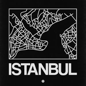 Black Map of Istanbul by NaxArt