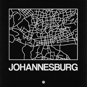 Black Map of Johannesburg by NaxArt