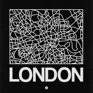 Black Map of London by NaxArt